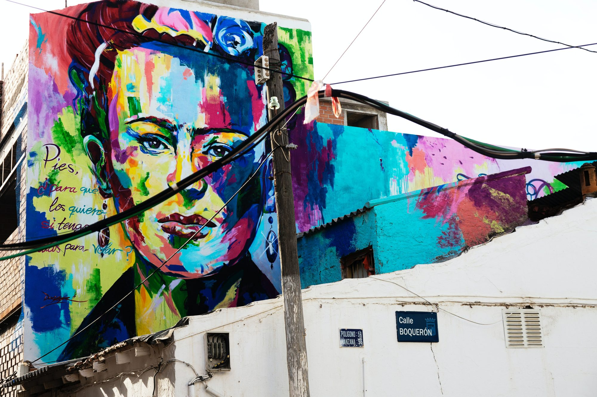Frida Kahlo Wandbild in Malaga: