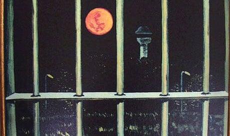 """Der zukünftige Diktator hatte Zeit zum Malen: Hugo Chavez malte das Bild """"Der Mond von Yare"""" im Knast."""