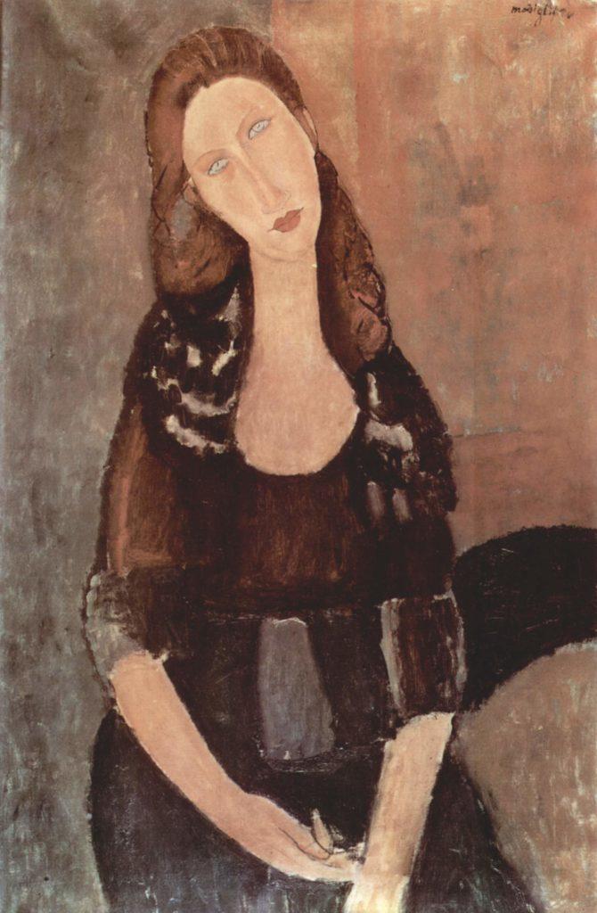 """Die junge Frau des Künstlers: Modigliani, """"Porträt der Jeanne Hébuterne"""" 1918. Privatsammlung"""