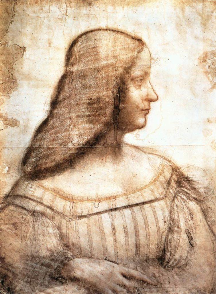 Profilzeichnung der Isabella d'Este von Leonardo da Vinci