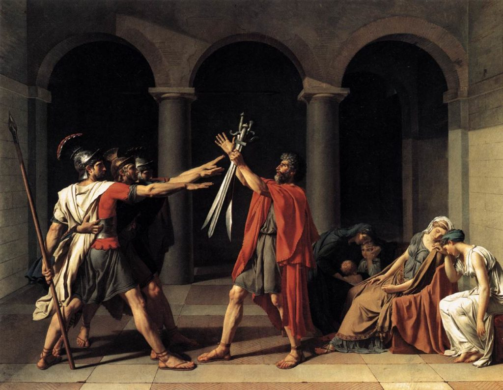 Jacques-Louis David Der Schwur der Horatier