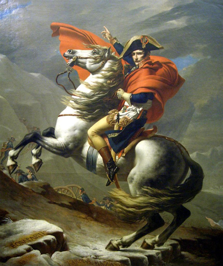 Napoleon in der Darstellung des Staatskünstlers Jacques-Louis David