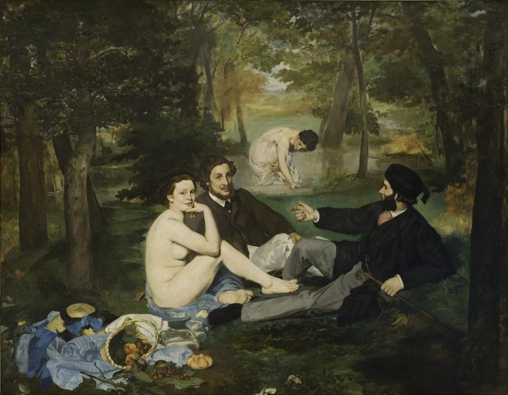 Edouard Manet Frühstück im Grünen 1863. Musée d'Orsay.