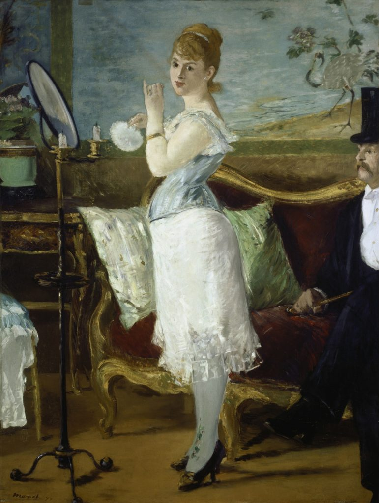 Nana, 1877. Von Manet, Eduard  Hamburger Kunsthalle.