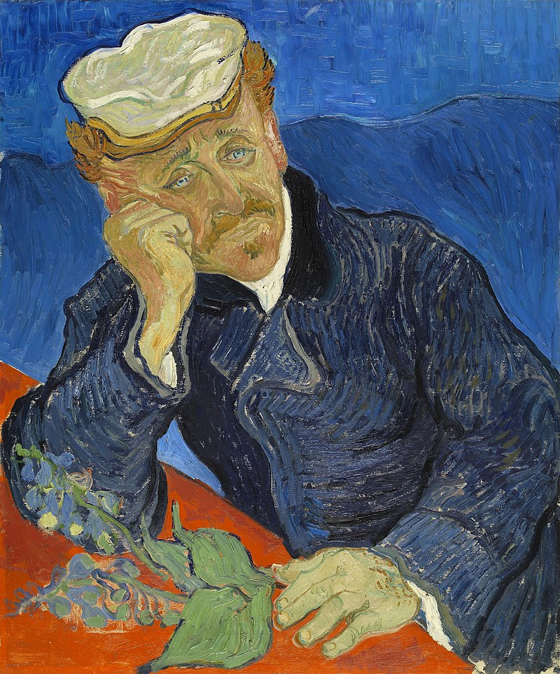 Zweite Version Porträt Dr. Gachet aus der Sammlung Gachet (heute im Pariser Musée d'Orsay).