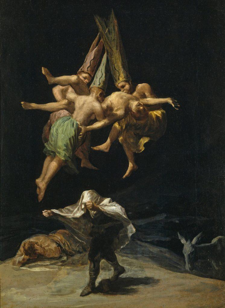 Schwarze Romantik und Hexenspuk bei Goya. disturbance: witch