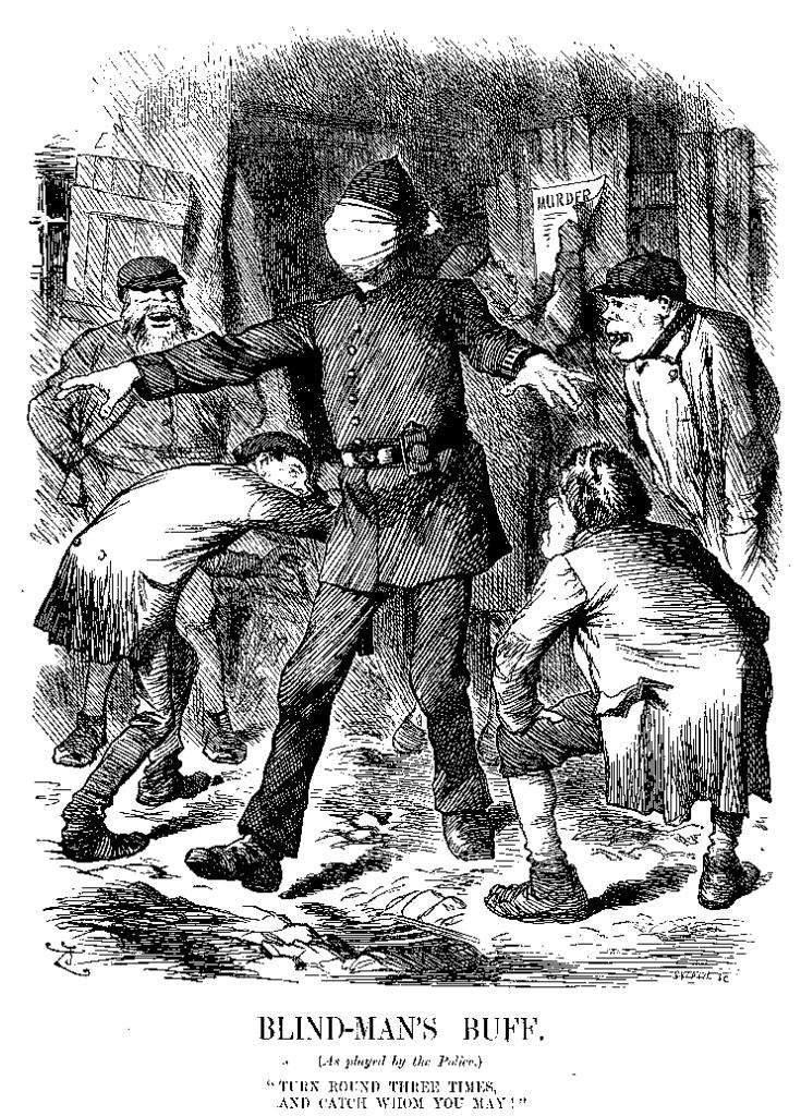 Karikatur zur Jagd auf Jack the Ripper