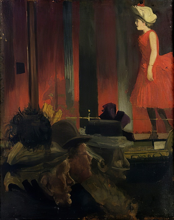 "Walter Sickert ""The Music Hall"", 1889"