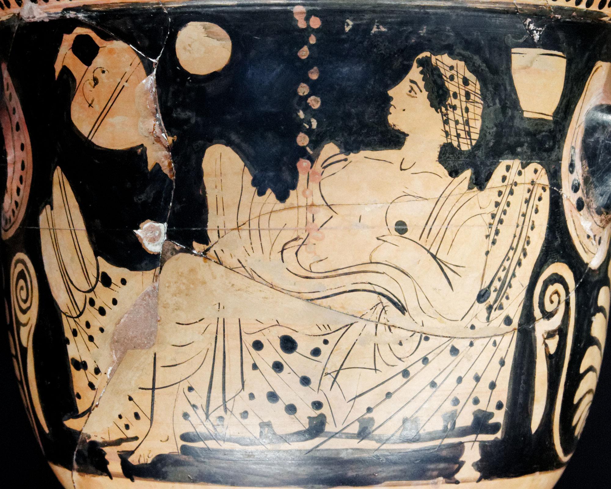 Antike Vorlage für Girodets Danae