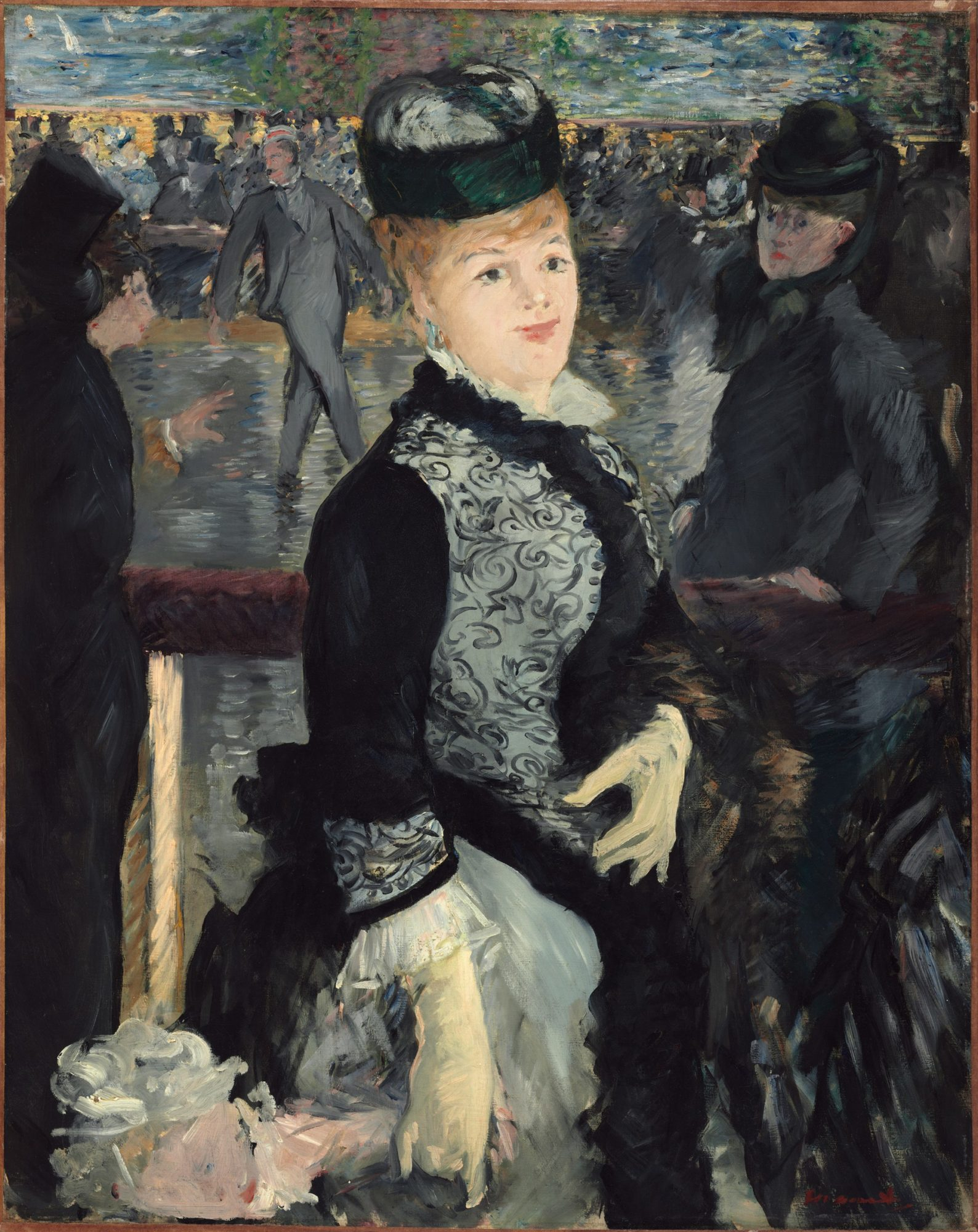 Édouard Manet, Au Skating, 1877. Harvard Art Museums