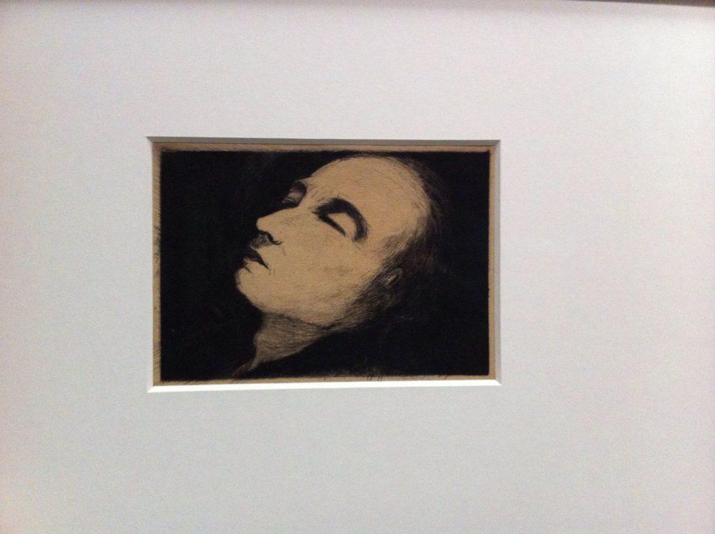 Van Gogh auf dem Sterbebett – dilettantische Grafik von Paul Gachet.