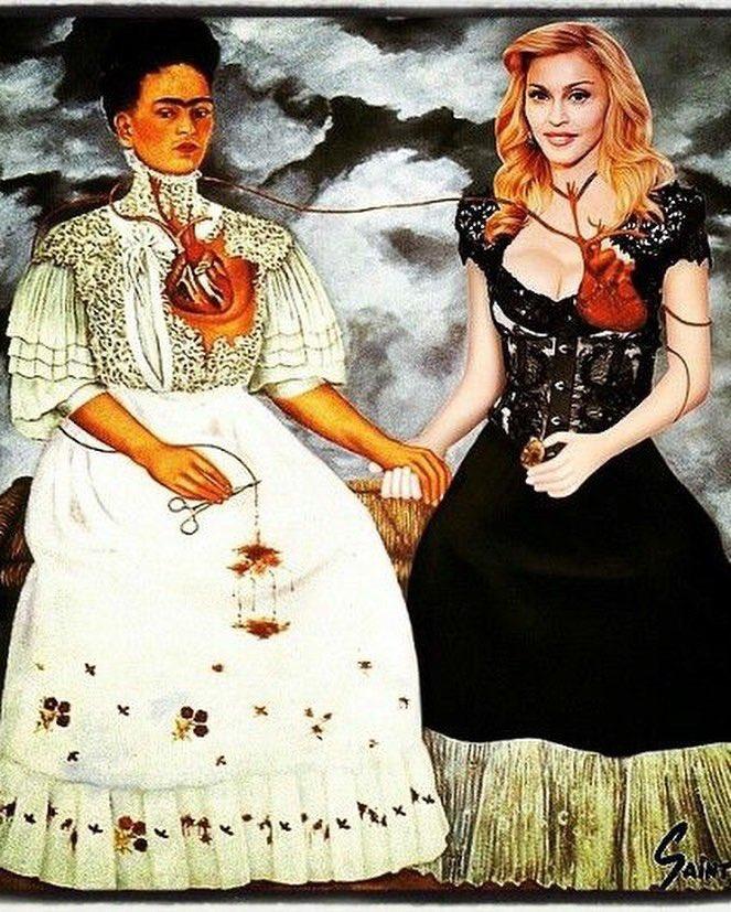 Madonna ist Frida Kahlo Fan