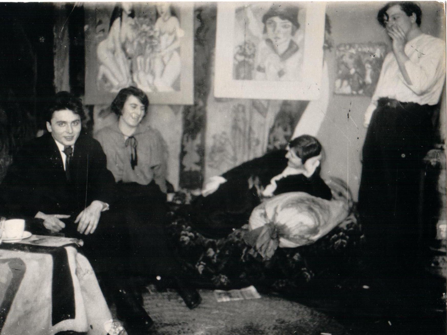 Ernst Ludwig Kirchner als Dachkammer-Bohemien um 1914 in Berlin.