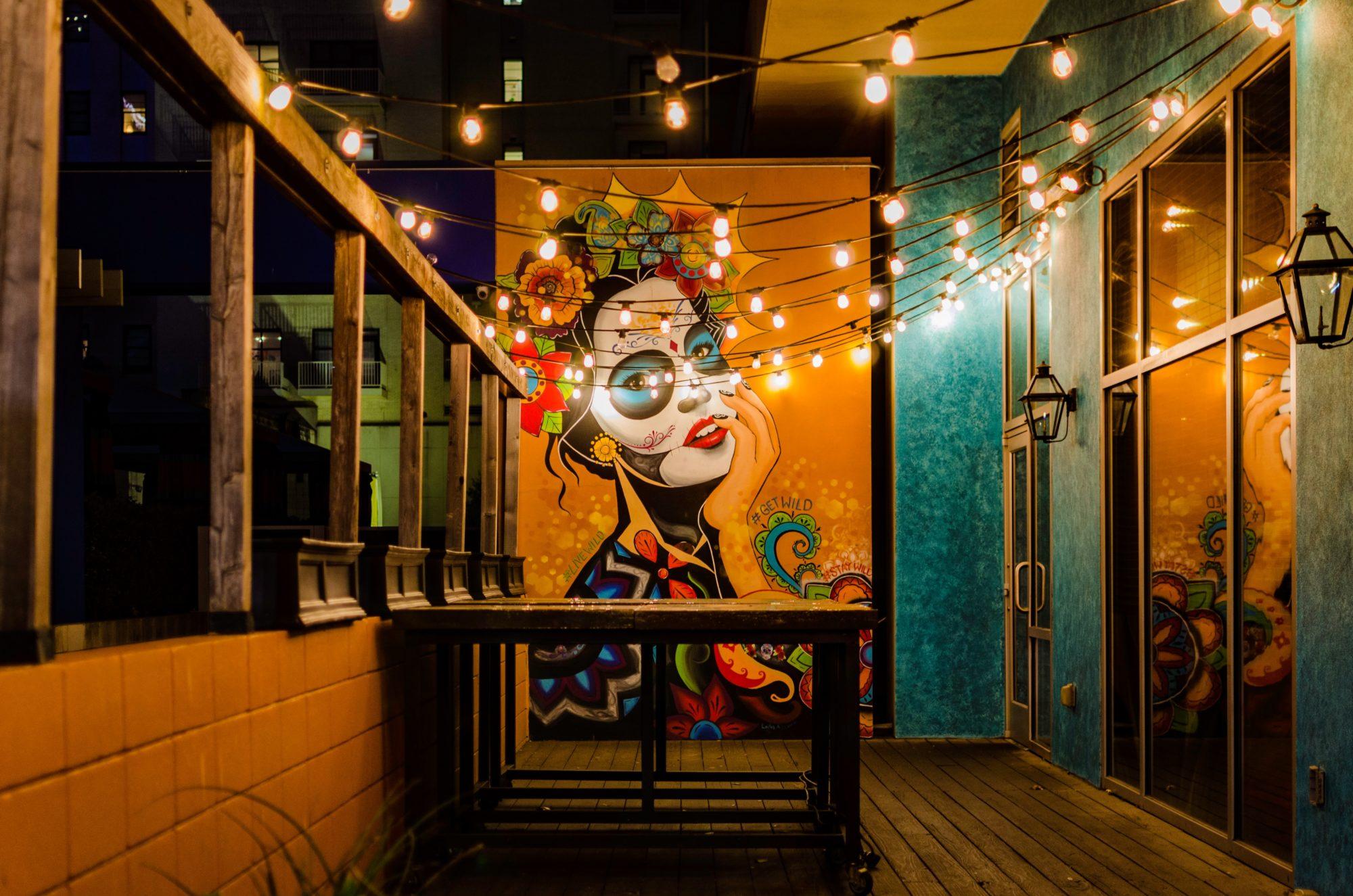 Frida Kahlo Wandbild in Dallas.