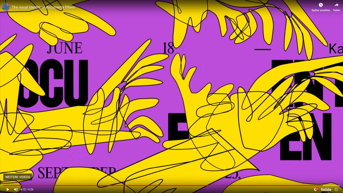 Documenta-Design im Ausschnitt