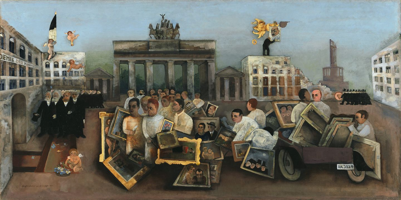 """Felix Nussbaums Gemälde """"Der tolle Platz"""" erzählt von den Generationskonflikten in der Kunstszene der 1920er Jahre. Damals stand die Kunst im Kreuzfeuer von Kulturkritik und Demagogie."""