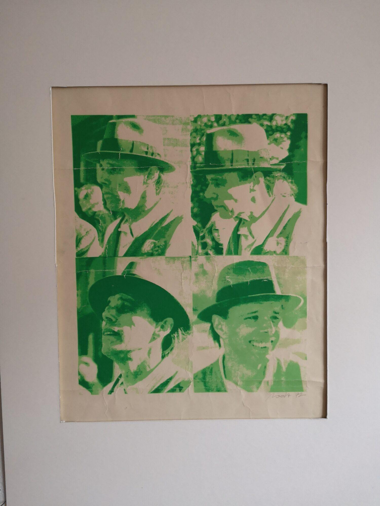 """Fernand Roda: """"Beuys"""" Siebdruck 1972. Foto: Adrian Roda Lentz"""
