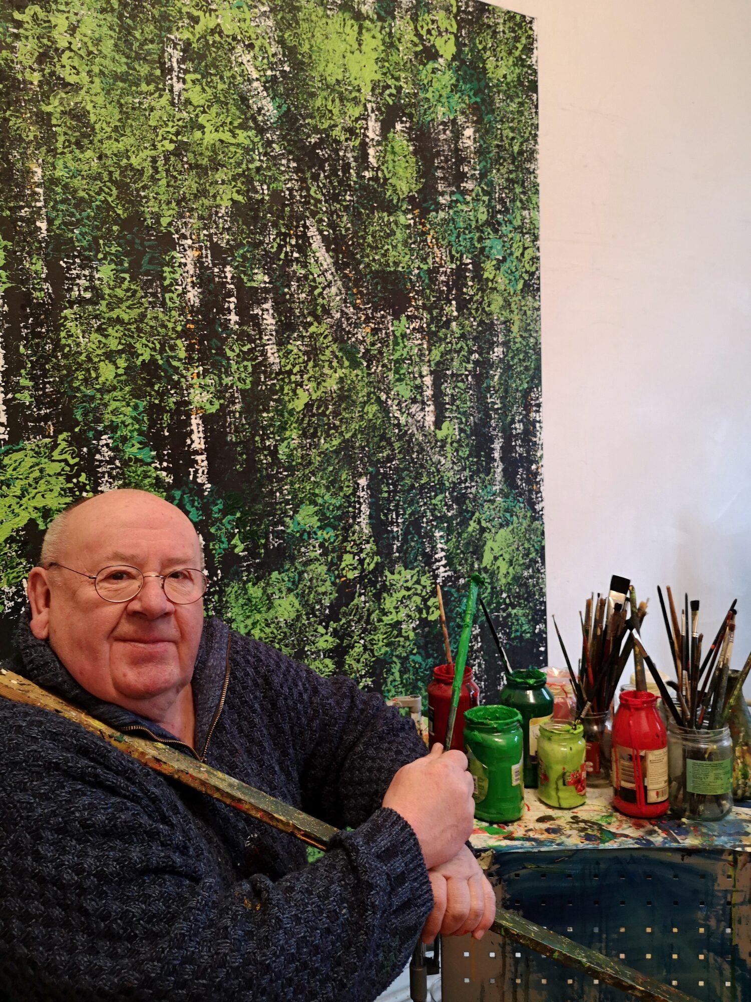 Fernand Roda in seinem Düsseldorfer Atelier 2021. Foto: Adrian Roda Lentz