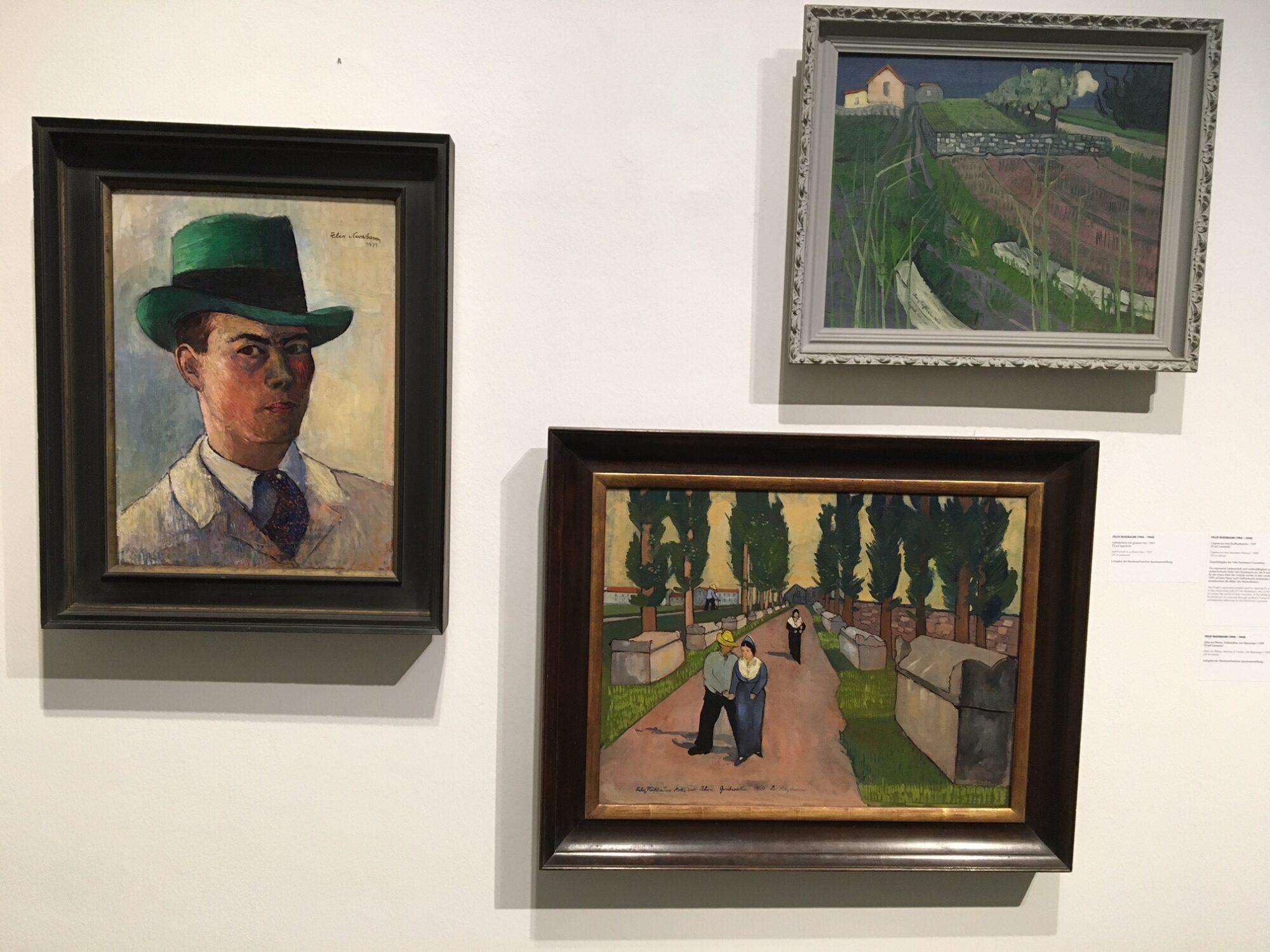 Nussbaum auf den Spuren Van Goghs – hier die künstlerische Ausbeute seiner Reise. Foto: Saehrendt, Felix-Nussbaum-Haus 2020.