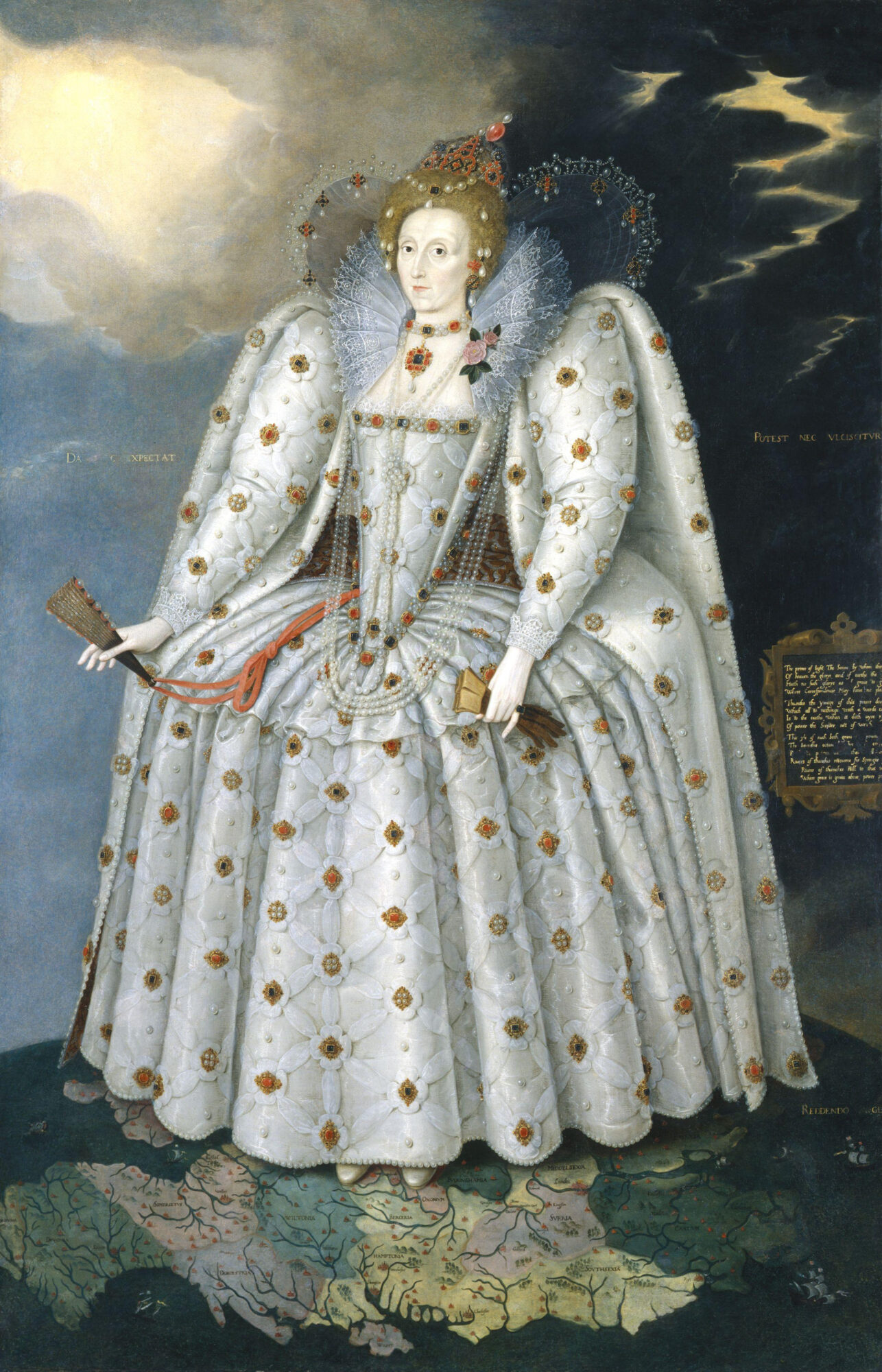 Marcus Gheeraerts der Jüngere 1592 Elizabeth I. National Portrait Gallery London.