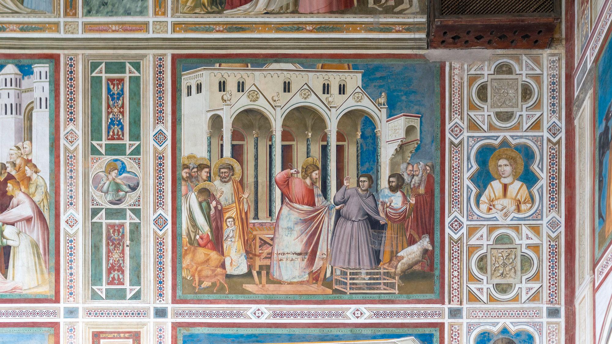 Giotto - Vertreibung der Wechsler aus dem Tempel