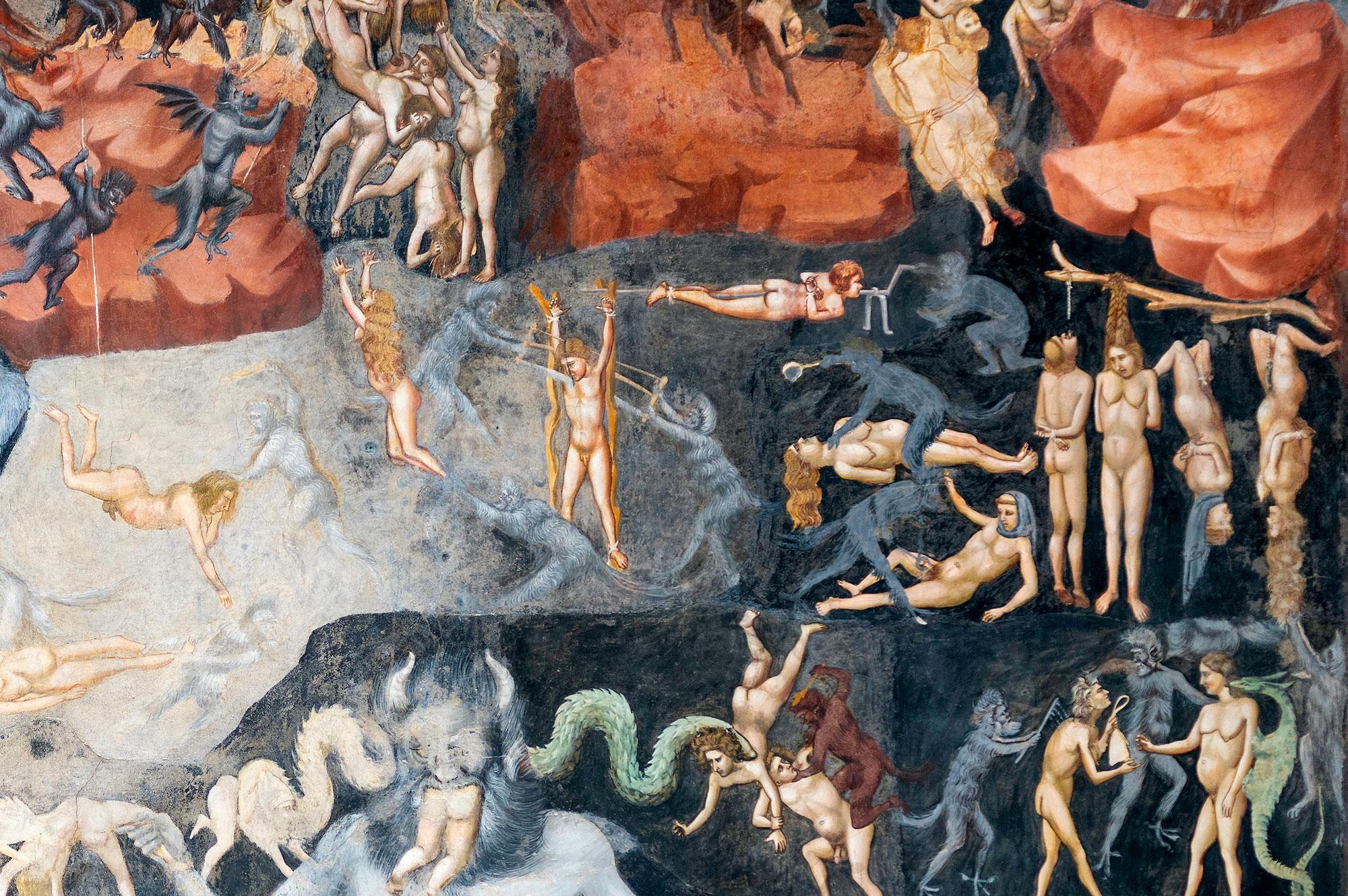 Giottos Fegefeuer Detailansicht
