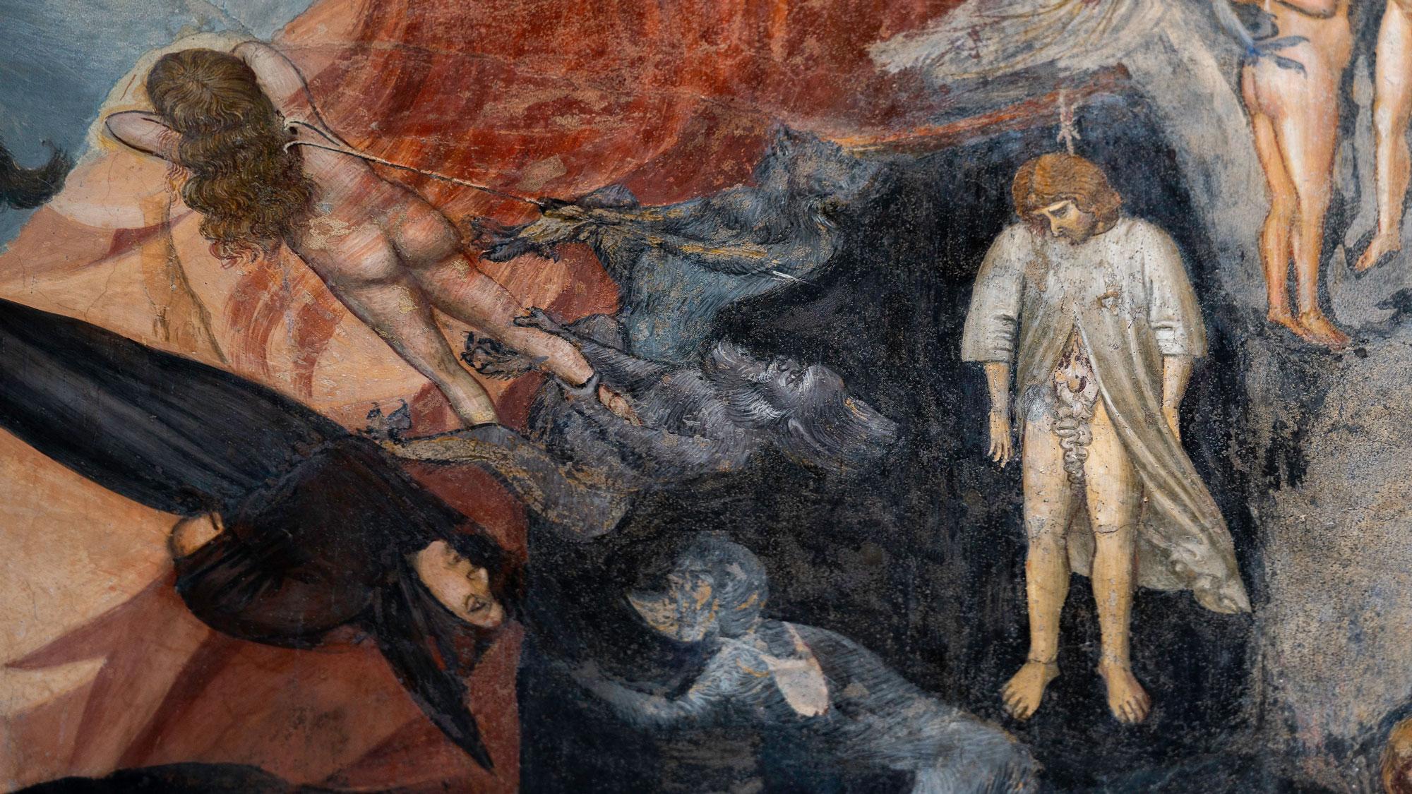 Giotto Detail aus dem Fegefeuer