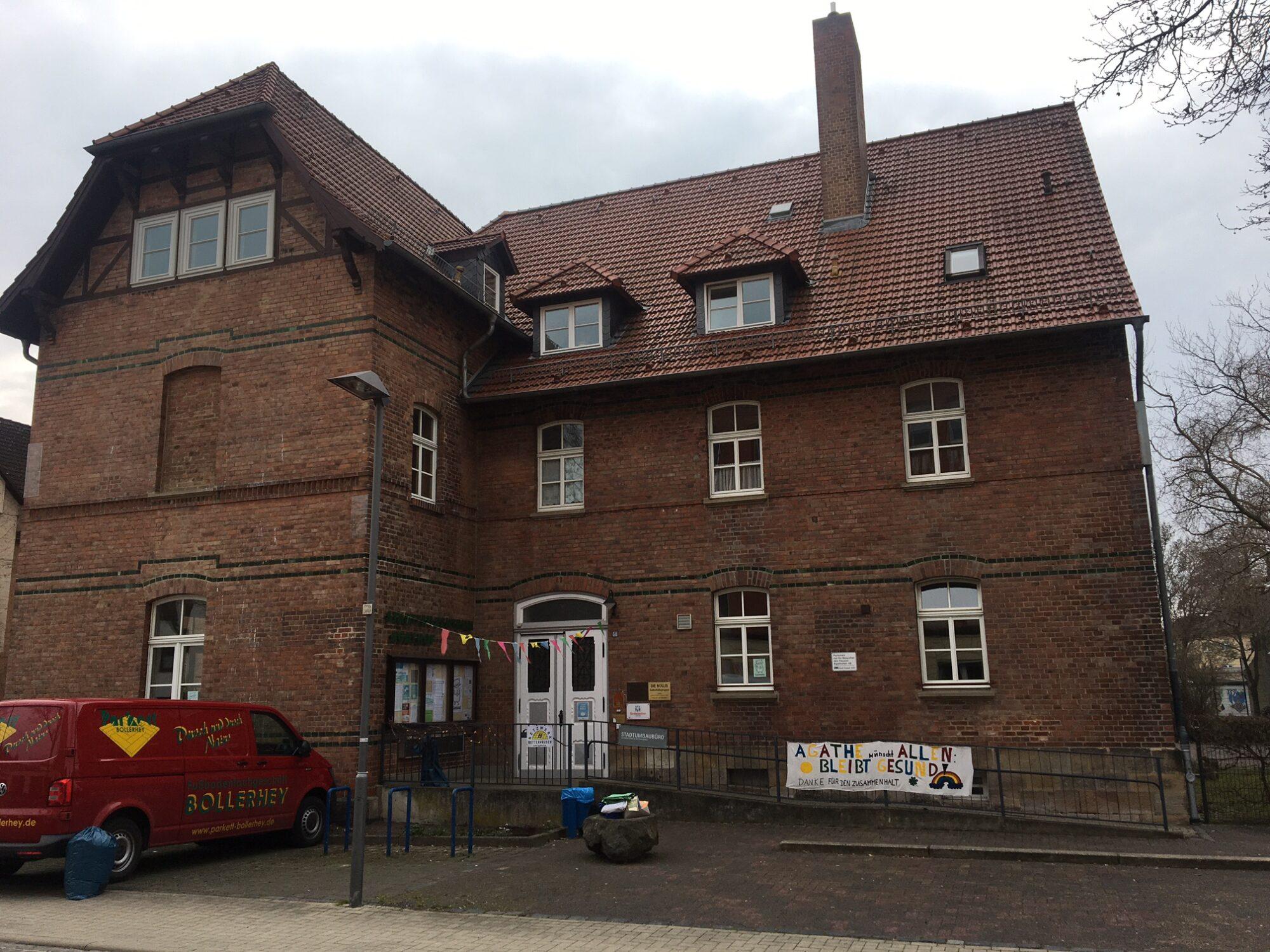 Das Kulturzentrum Agathof in Kassel-Bettenhausen. Foto: Christian Saehrendt 2021.