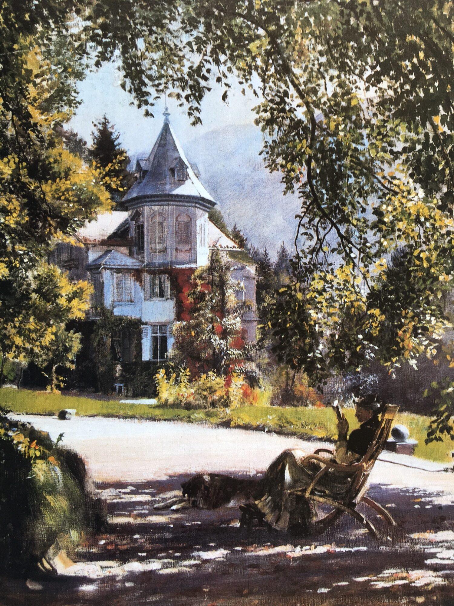 """Clara von Rappard, """"Im Park der Villa Rugen"""""""