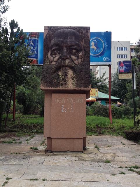 Das Marx-Denkmal in Addis Abeba heute. Foto: Anke Hagemann.