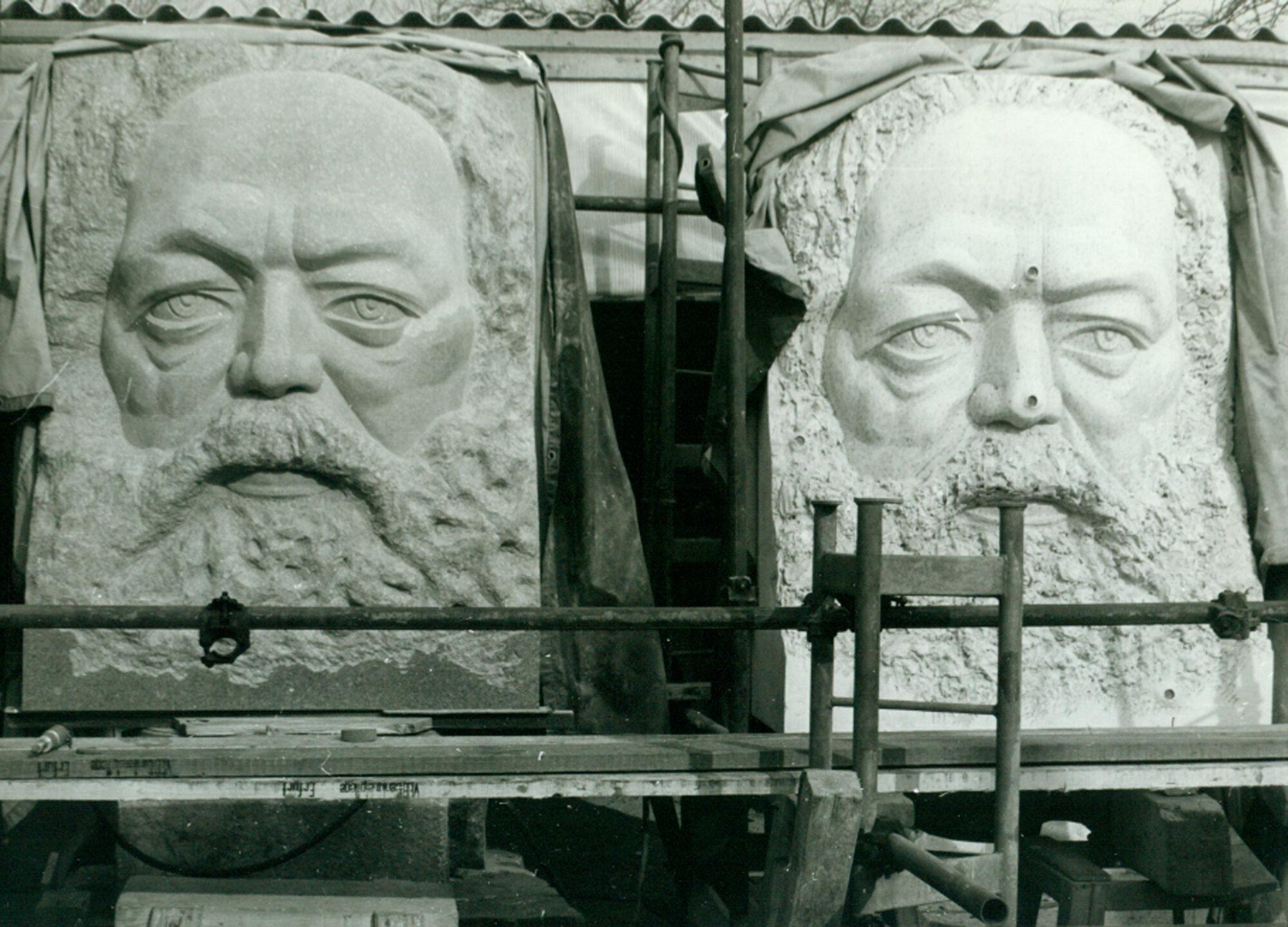 Jo Jastram, Marx-Denkmal für Addis Abeba. Foto: Dank an Galerie Weise, Chemnitz.