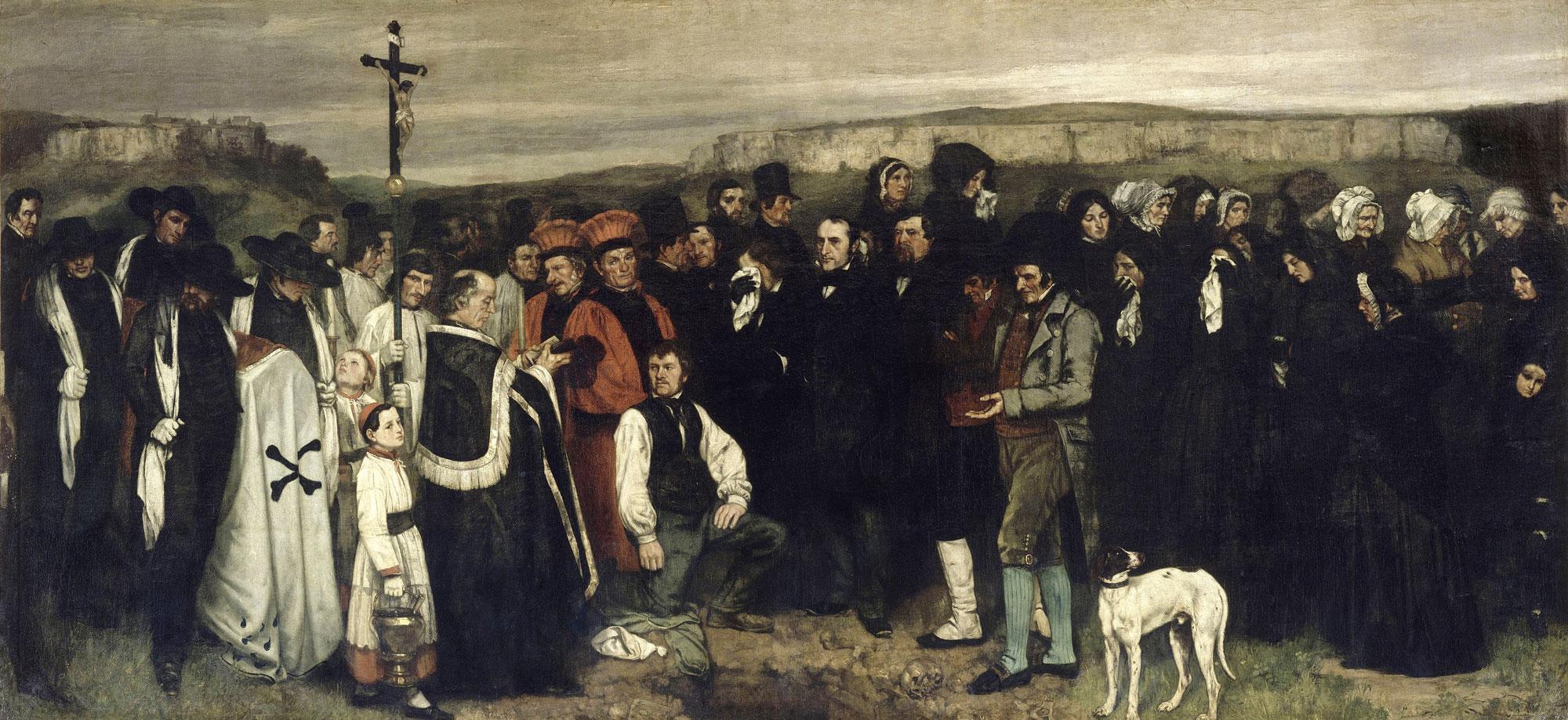 Courbet - Ein Begräbnis in Ornans