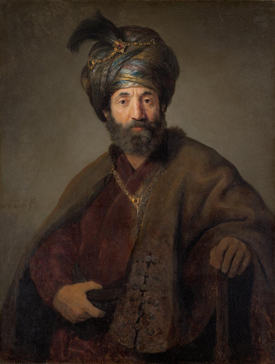 """Rembrandt Gemälde """"Mann in orientalischem Kostüm"""""""