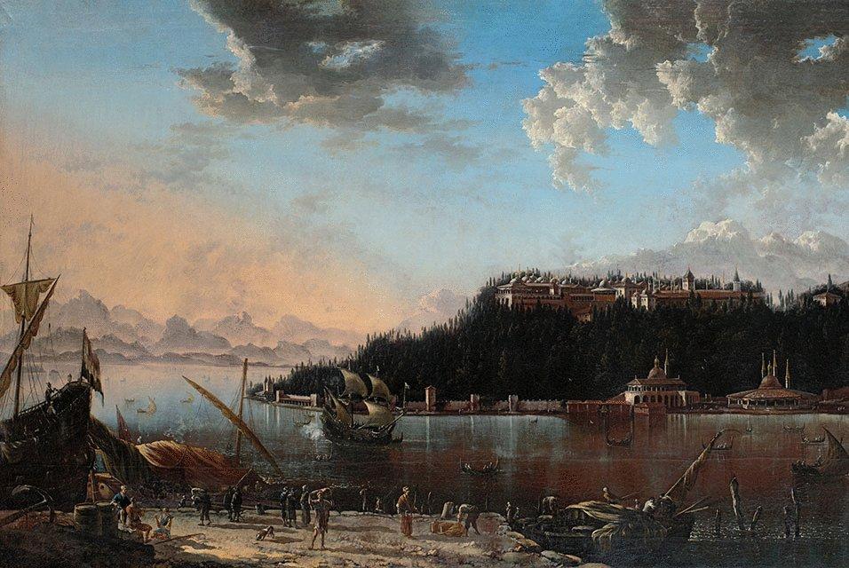 Hans de Jode, Die Serailspitze in Konstantinopel (Topkapi-Palast), 1659  www.khm.at/de/object/2387337ba1/