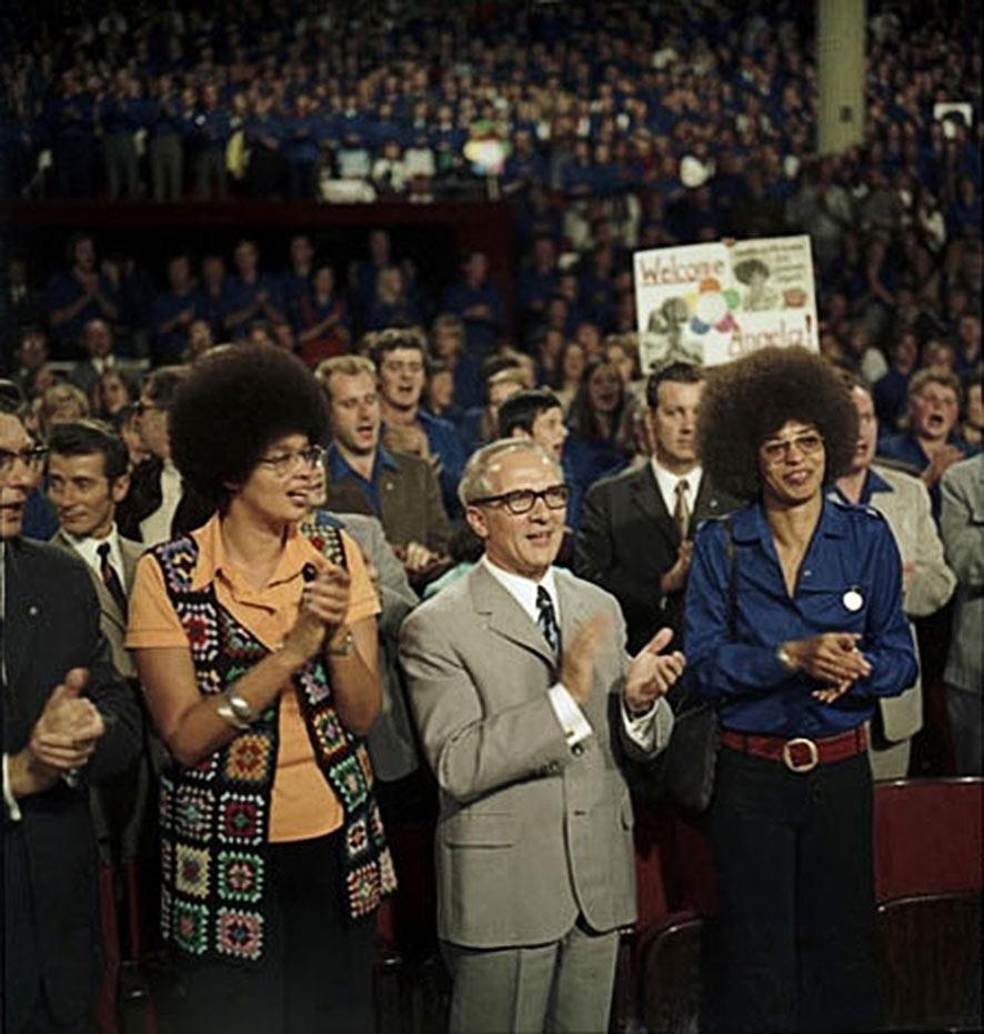 Kendra Alexander, Erich Honecker und Angela Davis